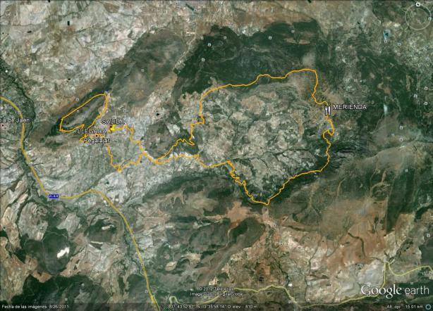trazado ruta mtb pegalajar 2012 jaén